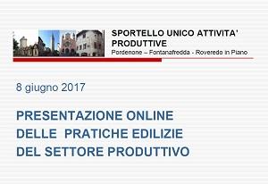 SUAP Pordenone Presentazione Online Pratiche Edilizie